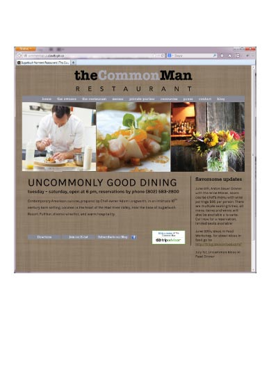 Website Development for Restaurants
