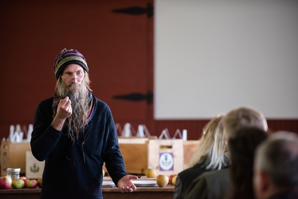 speaking at Heirloom Apple Day. Photo by Kelly Fletcher Photography