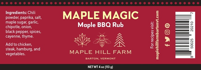 Maple Hill Farm Maple Magic BBQ Rub