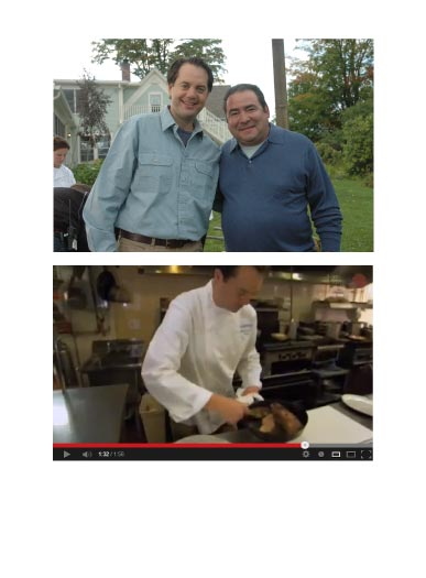 PKC arranged for Planet Green's Emeril Green to film the Inn at Weathersfield & Cedar Circle Farm