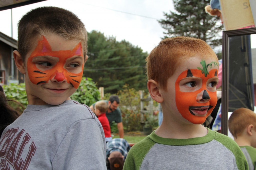 Facepainting at Cedar Circle Farms annual pumpkin festival in E Thetford VT (by Rori Kelleher)